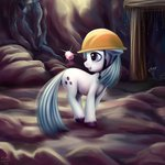 cave gems hardhat hat highres ioverd marble_pie