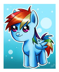 filly princesssilverglow rainbow_dash