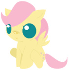 blood-charm chibi fluttershy mspaint transparent