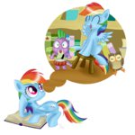 book drums owlowiscious rainbow_dash spike stool swanlullaby transparent