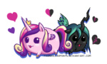 blob fourdollarponys heart princess_cadance queen_chrysalis transparent
