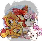 apple_bloom babs_seed cutie_mark_crusaders ichigoaimin milkshake scootaloo sweetie_belle tomato