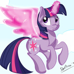 flight_spell magic shelltoontv twilight_sparkle wings