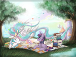 book border butterfly canterlot exxiry filly highres princess_celestia quill sleeping twilight_sparkle wind