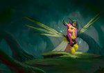 alicorn antlers dress eosphorite fluttershy forest highres seabreeze