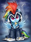 filly power_ponies rainbow_dash xioade zapp