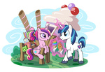 bench cupcake hat ice_cream madmax magic princess_cadance shining_armor toy