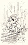 applejack bindle highres lineart mcstalins