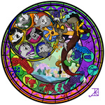 akili-amethyst applejack big_macintosh buffalo bunny discord discordified fluttershy granny_smith main_six pig pinkie_pie rainbow_dash rarity screwball stained_glass twilight_sparkle