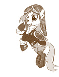 betweenfriends coat derpy_hooves goggles hat steampunk
