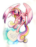 ladyamaltea princess_cadance watercolor