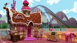 3d_model apple_cart applejack discopears pinkie_pie rainbow_dash rollercoaster scenery sugarcube_corner