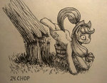 applejack sa1ntmax traditional_art tree