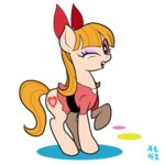 blossom highres korean mrs1989 ponified the_powerpuff_girls transparent