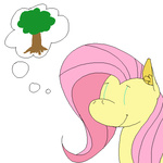 animated bunny fluttershy ponett rainbow_dash tree