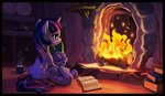 book fire harwick highres spike twilight_sparkle