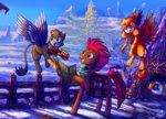 absurdres griffon griffonstone highres huge_filesize jowybean original_character scarf tempest_shadow
