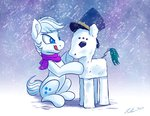 double_diamond hat scarf snow snow_pony tsitra360
