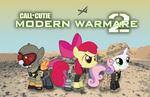 apple_bloom call_of_duty crossover cutie_mark_crusaders military scootaloo smashinator sweetie_belle
