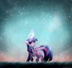 magic nighttime princess_twilight queenofsilvers stars twilight_sparkle