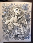 andy_price butterfly fluttershy highres traditional_art