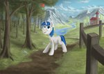 absurdres apples colt highres lolopolko scenery shining_armor trees