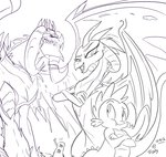 disguise dragon_lord_torch jowybean princess_ember princess_twilight rarity sketch spike twilight_sparkle