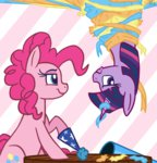 cannon party_cannon pink-pone pinkie_pie twilight_sparkle
