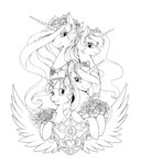absurdres flowers highres longinius-ii princess_cadance princess_celestia princess_luna princess_twilight twilight_sparkle