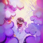 absurdres dearmary highres original_character scarf snow tree