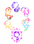 applejack fluttershy kwartzkitten main_six pinkie_pie rainbow_dash rarity tribal twilight_sparkle