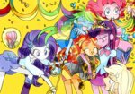 anime anime_as_fuck applejack confetti crown equestria_girls fluttershy gh humanized main_six measuring_tape pinkie_pie rainbow_dash rarity ribbon sunset_shimmer twilight_sparkle