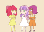 alpacaa apple_bloom cutie_mark_crusaders dress humanized scootaloo sweetie_belle