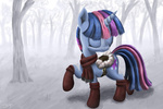 boots denial-is-tragic saddle scarf snow twilight_sparkle winter
