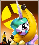 banana blushing hat highres hoyeechun princess_celestia pyro team_fortress_2