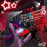 dj don-komandorr rave twilight_sparkle vinyl_scratch