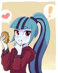 baekgup eating equestria_girls hoodie humanized sonata_dusk taco the_dazzlings