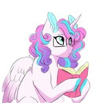 book glasses grown_up highres princess_flurry_heart scarletskitty12