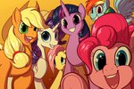 applejack astarothathros derpy_hooves fluttershy main_six pinkie_pie rainbow_dash rarity twilight_sparkle