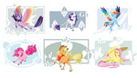 absurdres applejack earthsong9405 fluttershy highres incredibly_absurdres main_six pinkie_pie rainbow_dash rarity twilight_sparkle