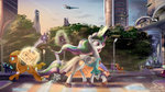 airplane bag city clothes eriadu future highres magic original_character princess_celestia scenery