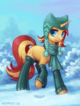 asimos hat highres scarf snow sunset_shimmer
