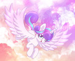flying grown_up highres joakaha princess_flurry_heart