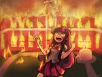 arson clothes crown equestria_girls fire insanity lumineko on_fire twilight_sparkle