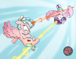absurdres cozy_glow darkprinceismyname fight flying highres magic princess_flurry_heart