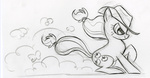applejack fim_crew lauren_faust production_art sketch