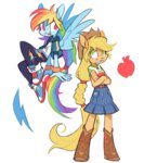 8-xenon-8 applejack equestria_girls highres humanized rainbow_dash