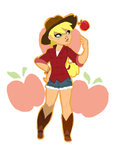 actionkiddy applejack cutie_mark highres humanized