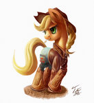 Post 65998, tags: applejack, boots, pants, shirt, tsitra360, rating:Safe, score:7, user:Geomancing