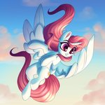 absurdres cloud faline flying highres princess_celestia young